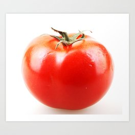 Red Tomato Isolated On White Background Art Print
