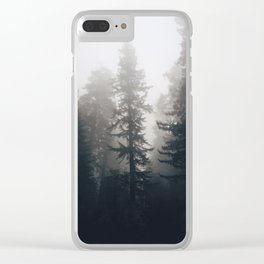 Treetop fog Clear iPhone Case
