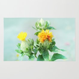 Yellow Safflower (Carthamus Tinctorius Yellow)  Rug