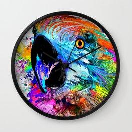 Ara Parrot Wall Clock