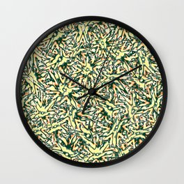 Military Flower Wall Clock
