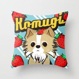 Komugichan Throw Pillow