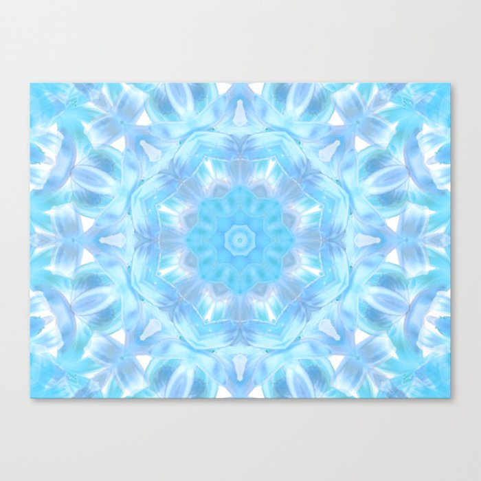 Soft Shades of Color Kaleidoscope Canvas Print