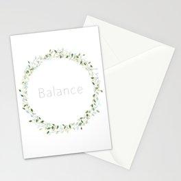 Inspirational words - Balance Stationery Cards