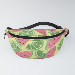 Watermelon Limeade Pattern Fanny Pack