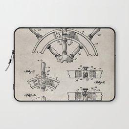 Ships Wheel Patent - Boat Wheel Art - Antique Laptop Sleeve
