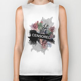 Censored Heart Biker Tank