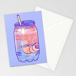 Peach Bubbles Stationery Cards