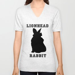 Lionhead Rabbit Silhouette Unisex V-Neck