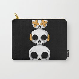 Cute Skulls No Evil II Carry-All Pouch