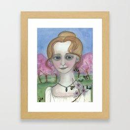 Blossoms Awake Spring,  Four Seasons Portrait Framed Art Print