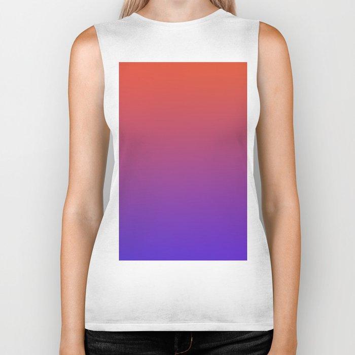 STEAM SCENE - Minimal Plain Soft Mood Color Blend Prints Biker Tank
