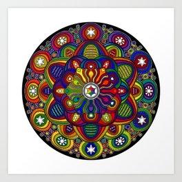 Mandala 42 - Psychedelic Mandala Rainbow series Art Print