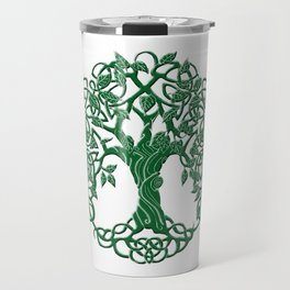 Tree of life green Travel Mug