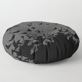 An Unkindness of Ravens (Grey) Floor Pillow