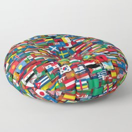 Flags of all countries of the world Floor Pillow