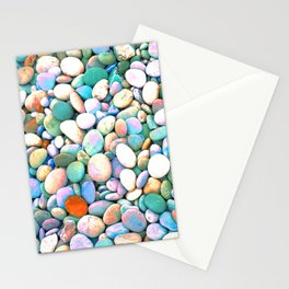 PEBBLES ON THE BEACH Stationery Cards