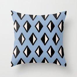 Diamond Pattern Blue 961 Throw Pillow