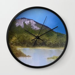 Mountain Lake I Wall Clock