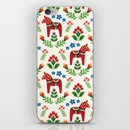 Swedish Dala Horses Red iPhone Skin