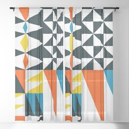Mid Century 02 Sheer Curtain