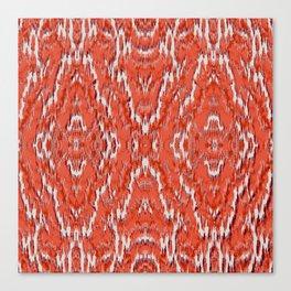 big diamond ikat in vermilion Canvas Print