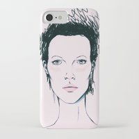 kate moss iPhone & iPod Cases featuring Moss by Lexi Edwards