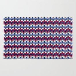 Blue and Pink Fairisle Rug
