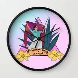 No Human is Illegal Wall Clock