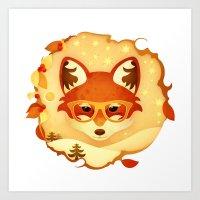 Autumn Fox Art Print
