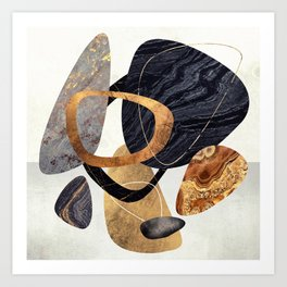 Abstract Pebbles III Art Print