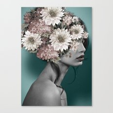 Floral Woman Canvas Print