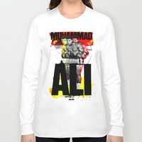 ali gulec Long Sleeve T-shirts featuring Muhammed Ali by Genco Demirer