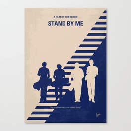 No429 My Stand by me minimal movie poster Canvas Print