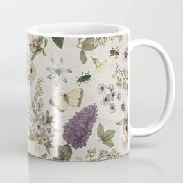 spring flowers with butterfly and beetles II Coffee Mug