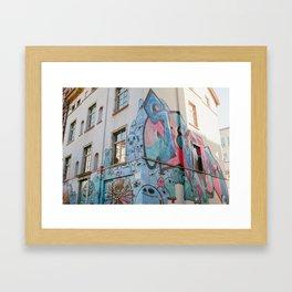 Frankfurt Graffiti Framed Art Print