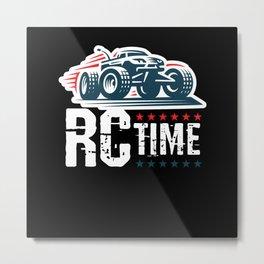 RC Time RC Car Model Build Metal Print