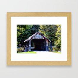 Will Henry Stevens Covered Bridge Framed Art Print