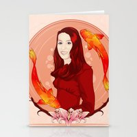 pisces Stationery Cards featuring Pisces by Vanesa Abati