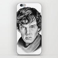 sherlock iPhone & iPod Skins featuring Sherlock by 13 Styx