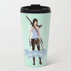 Fight Like a Girl: Lara Croft Travel Mug