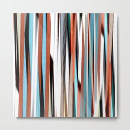 colorful abstract striped pattern Metal Print