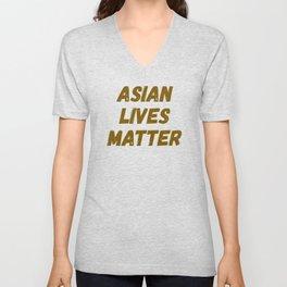 Asian Lives Matter Stop Hate Crimes Unisex V-Neck