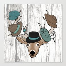 Deer Hat Rack Canvas Print