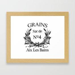 Grains No 4 Framed Art Print