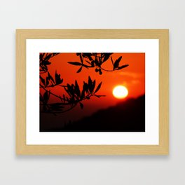Italian Sunset Framed Art Print