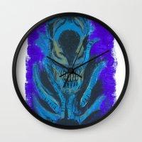xenomorph Wall Clocks featuring Alien Xenomorph  by Dukesman