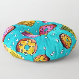 Muffins and doughnuts Floor Pillow
