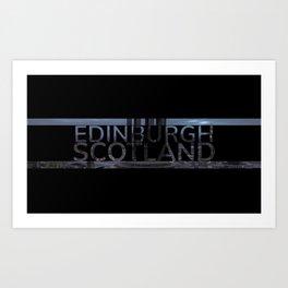 Edinburgh Calton Hill Text Art Print
