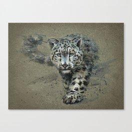 Snow leopard background Canvas Print